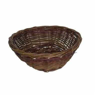 Decoratie bruine picknick mand 40 cm