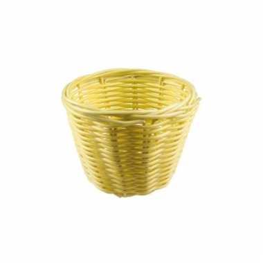 Picknick mandje beige 14 cm