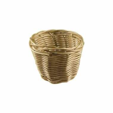 Picknick mandje bruin 14 cm