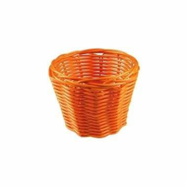 Picknick mandje oranje 14 cm