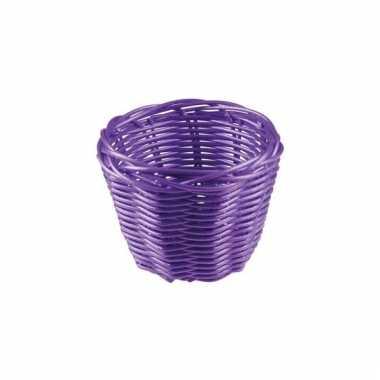 Picknick mandje paars 14 cm