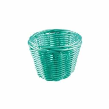 Picknick mandje turquoise 14 cm