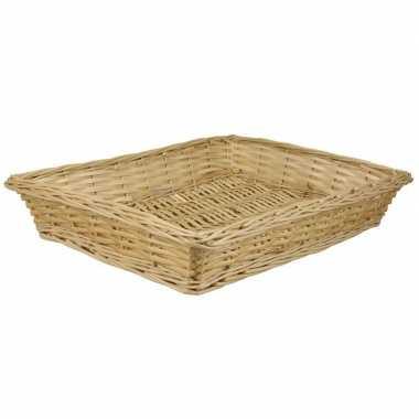 Rechthoekige picknick mand/schaal 41 x 32 x 8 cm